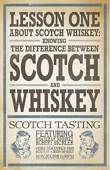 Merrill Middle School Scotch Tasting event poster Brooklyn Art Project