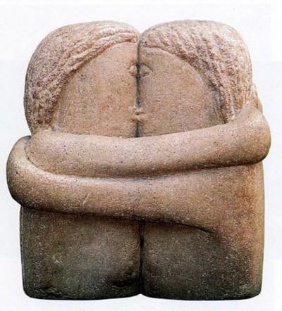 CONSTANTIN BRANCUSI, The Kiss