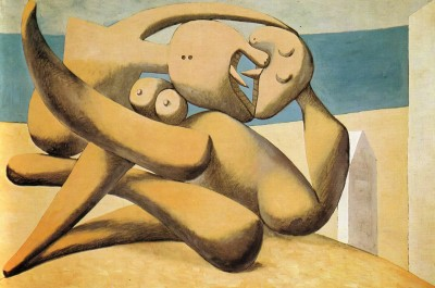 PABLO PICASSO, Figures By The Sea The Kiss, 1931
